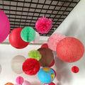 papel redonda bolas de flores