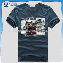 Wholesale clothing fashion design print mens t-shirt 2015
