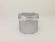 200ml round tin box with PVC window