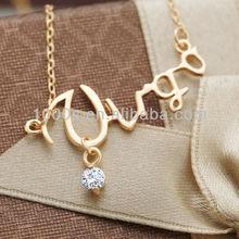 Glod Plated Virgo Zodiac Astrology Gemstone Fashion Necklace