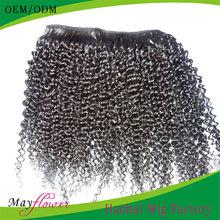 2014 New product natural kinky curly hair extensions virgin malaysian hair