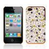 Hot Sale Plum Blossom Leather Skin Case for iPhone 4 Plastic Cover Case