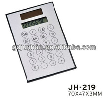 Solar power scientific super thin calculator
