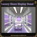 Led lumineux en bois nom marque boutique chaussures mur d'affichage pour exposition