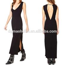 2014 newly desgin women clothing cotton/spandex comfortable ladies maxi dress
