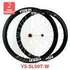 2014 YISHUNBIKE most popular 50mm Tubular 700C Superlite carbon wheels straight pull road bicycle wheel sets