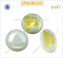 High quality with custom design two tone panda coin
