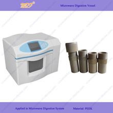 PEEK high pressure resistant laboratory reaction vessel for microwave digestion system