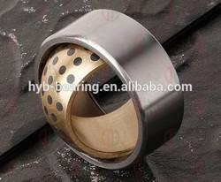 Flanged Sintered Bronze Bush Bearing/Cu663 bronze alloy copper powder metallurgy bush/DU DX Bimetal Graphite brass bushings