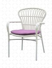 2014 New Design cheap aluminum stackable rattan wicker chair