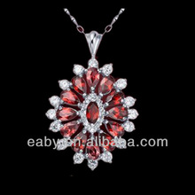 Jewelry,garnet engagement necklace pendants,wholesale,wedding gift,SP0379G