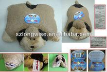 100% polyester dog shape cushion stocks F4202A animal shape cushion stocks