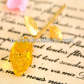Cristal amarillo de la flor centros de mesa