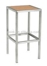 OB-923 Stainless steel cheap wooden bar stool