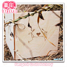 Custom Wooden Greeting card with hollow cut pattern [Factory/OEM service]
