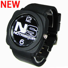 2015 Newest hot man watch silicone 3ATM Waterproof Glass Lense stainless steel back Japan movement Custom logo watch