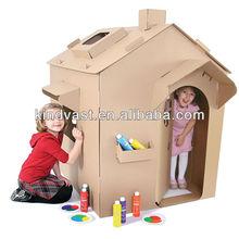 corrugated cardboard kids play house