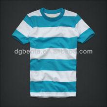 OEM mixed color stripe t shirt 1.00 cotton heritage t shirt for men 2013