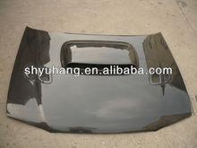 Fit for subaru gc8 sti carbon fiber bonnet hood with vents