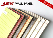Melamine paper surface wooden wall panel seems like wallpaper for the wall