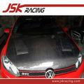 Per vw golf 6 con fori cappe in fibra di carbonio boneets( jsk300323)