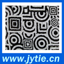 2015 White and Black Sequins Embroidery Fabric