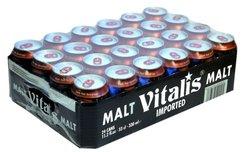 VITALIS Premium Dark Malt Beverage Non-alcoholic canned 24x33cl