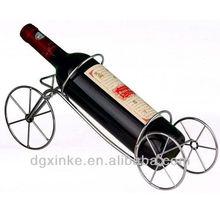 Customized three-wheels shape wine stainless steel bracket for furniture/ bar