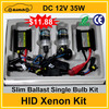DC 12V 35W Slim Ballast Single Bulb Hid Xenon Kit