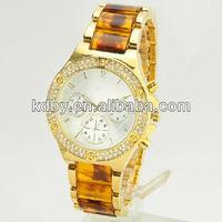 Fashion Crystal Gold Lady Wrist Watch