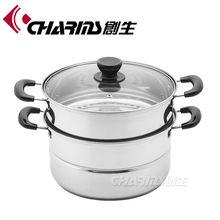 Tri-tier kitchenware spaghetti pot set