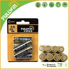 aa lr6 1.5v super alkaline battery in 6pcs blister card packing