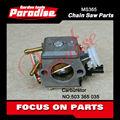 Motosierra de la gasolina de piezas de repuesto hus365 motosierra/sierra cadena carburador