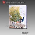 caliente la venta de pavo real hecha a mano de pintura al óleo sobre lienzo