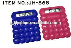 Cheap pocket flexible solar silicone calculator