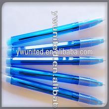 Blue easy plastic ballpoint pen