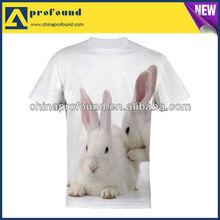 3D T shirts! 100% cotton Allover Vivid Printing animal Customized 3D t shirts