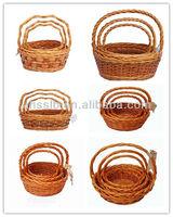 Brown Wicker Basket/Orange Wicker Basket/Red Wicker Basket