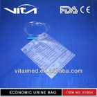Transparent Foil Or White Foil 1000/1500/2000ml Economic Urine Bag KYB04 With CE/FDA/ISO13485 Certificate