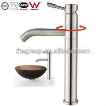 Stainless Steel Aldo Bathroom Vessel Sink Faucet