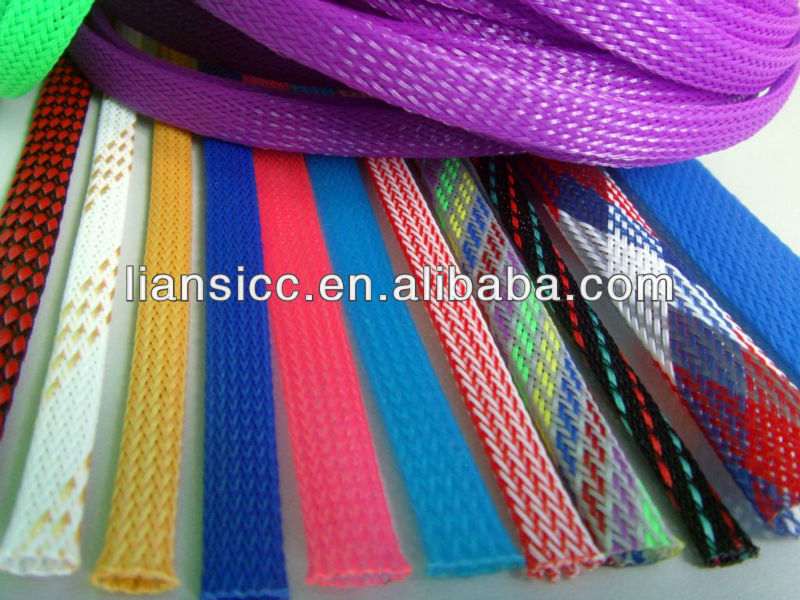 High Quality PET Braided Expandable Cable Protection Sleeving