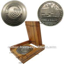hand made Olive Wood velvet boxes for medals