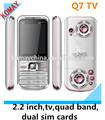 Komay q7 mobile téléphone quadri bande double carte sim et téléphone cellulaire.