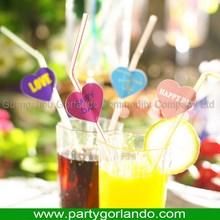 La mejor calidad a medida de plástico botella decorativa con paja del partido