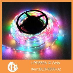 IC Bulid-in 1M 5050 RGB 30/60 LED WS2812B Chip White PCB WS2811 Digital RGB LED Strip Light 5V , WS2812 IC, Smooth Effects