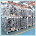 jaula plegable plataforma de almacenamiento de contenedores de metal