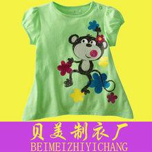 100 cotton pajamas kids T-shirts oem children's clothing baby doll t shirts wholesale
