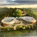 china honglu la luz la estructura de acero de la construcción del estadio