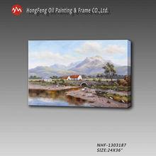 Rural hills landscape handmade oil painting