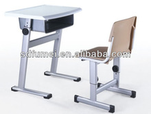 Primary school adjusted plastic children desk and chair NO. FM-A-901